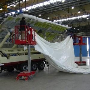 Airbus A380 – Imballaggio Sezioni Dell'aereo Passeggeri Più Grande Del Mondo