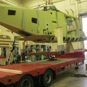 AgustaWestland Lynx Helicopter – Imballaggio E Trasporto Frame Per Prove Statiche